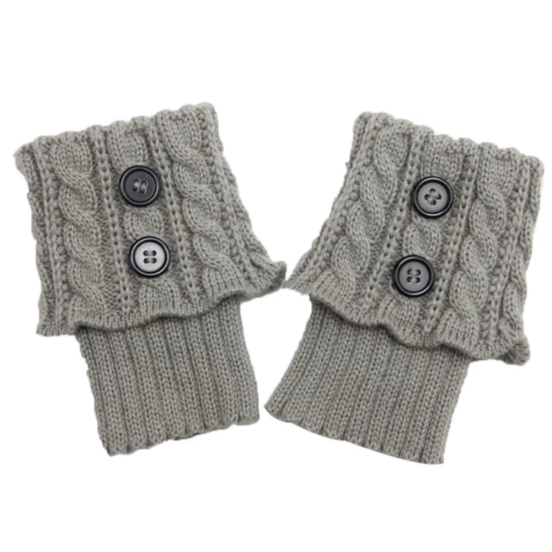 Women's Short Button Crochet Leg Warmer Boot Cuffs