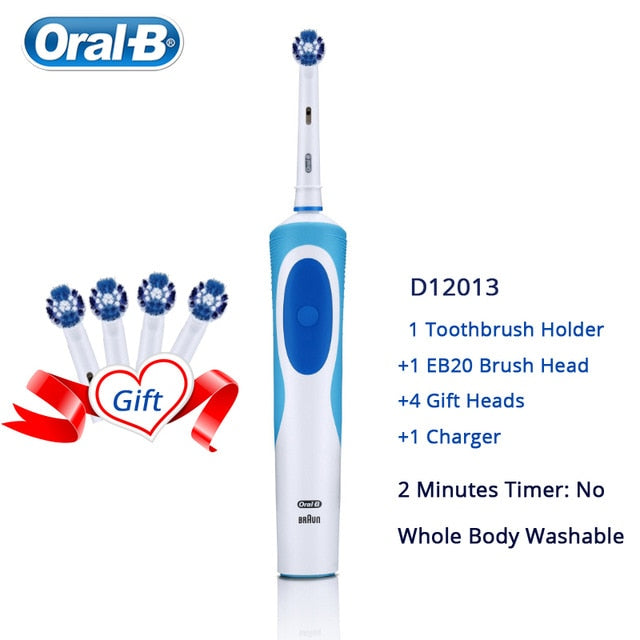 Oral B Electric Rechargeable 2D Rotating Toothbrush with Replacement Heads