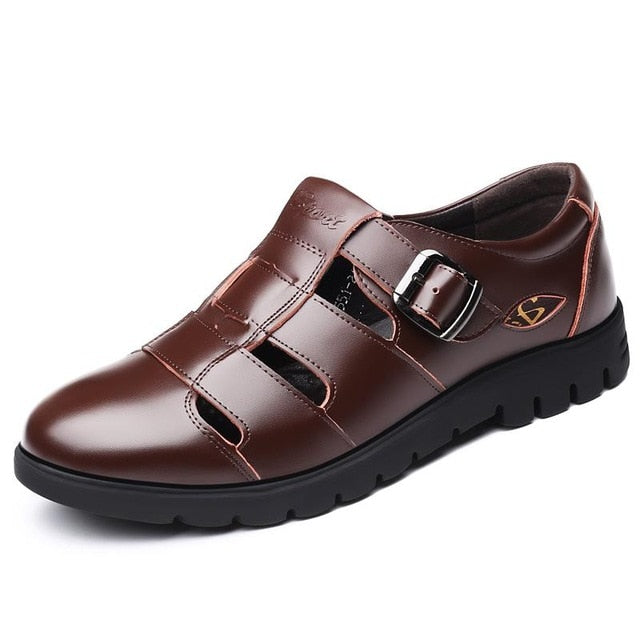 Men's Genuine Leather Roman Style Sandals