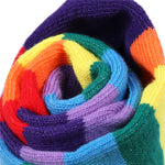 Colorful Rainbow Striped Thigh High Socks & Arm Warmer Gloves