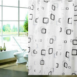 Modern Stylish PEVA material Thick Waterproof Mildew Shower Curtain  80*180cm Bathroom Products B5