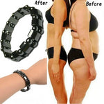 Magnetic Round Black Stone Weight Loss Therapy Bracelet