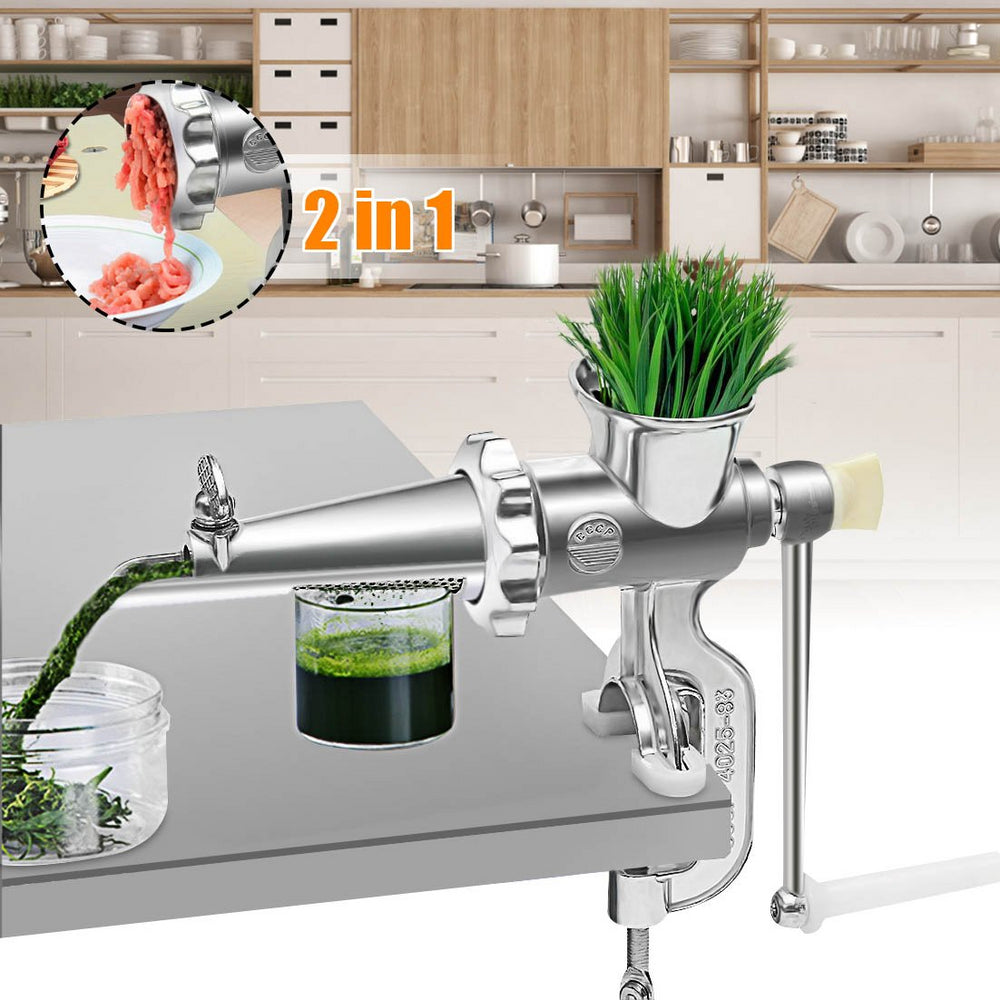 2-in-1 Household Manual Hand Operated Juice Squeezer and Meat Grinder