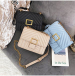Women's Square High Quality PU Leather Designer Handbag