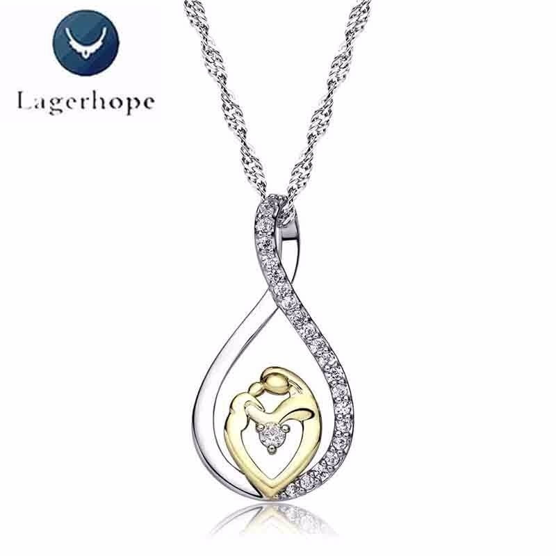 Women's Mother's Day Gift Mom Baby Pendant Necklace