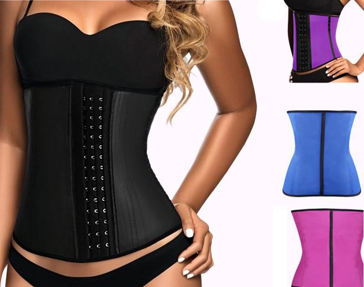 Women's 100% Latex 9 Steel Bone Slimming Shapewear Corset