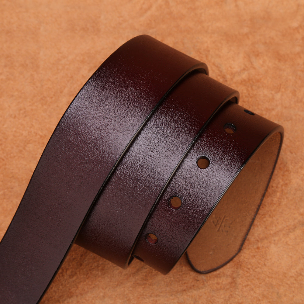 Men's High Vintage Denim Leather Belt