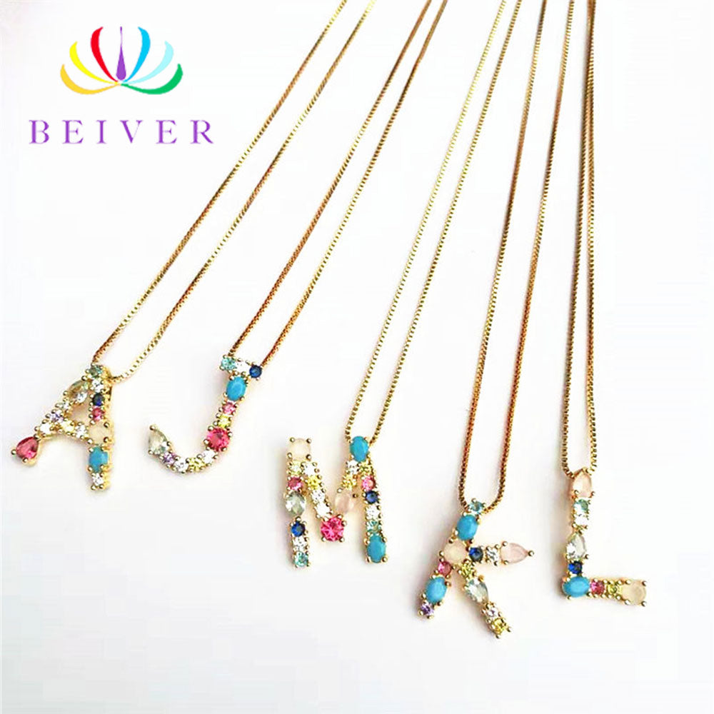 Fashion Letter Colored Necklace