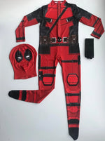 Kid One Piece Full Bodysuit Deadpool Costume with Mask