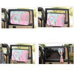 Rear Window Sliding Cartoon Sunshade Visors