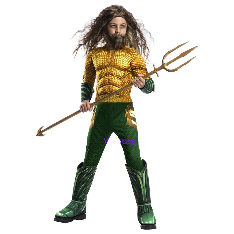 Kid's Aquaman Muscle Halloween Costume