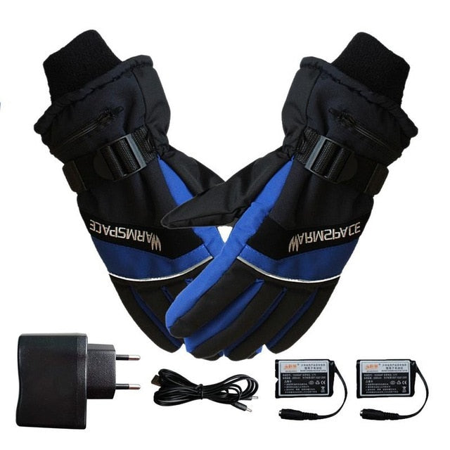 Winter USB Hand Warmer Electric Thermal Waterproof Gloves