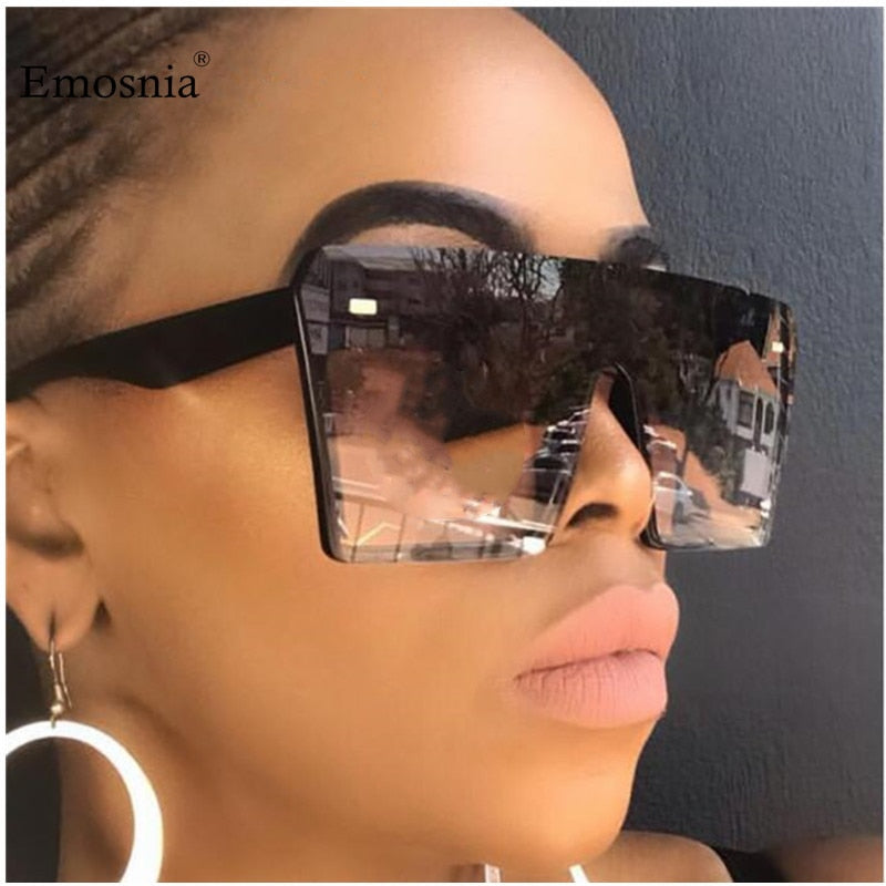 Women's Flat Top Square Oversized Sunglasses