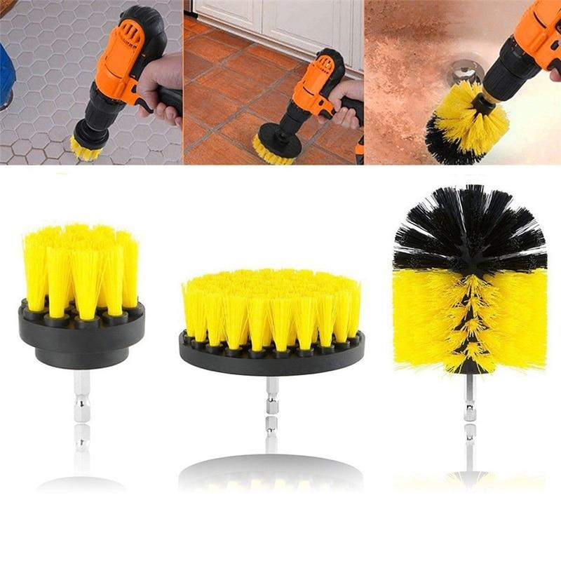 Drill brush Bathroom Surfaces Tub, Shower, Tile and Grout All Purpose Power Scrubber Cleaning Kit
