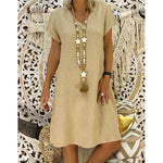Women's Summer Style T-shirt Cotton Casual Dress