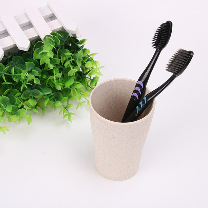10 Pack: Soft Hair Bamboo Charcoal Toothbrushes