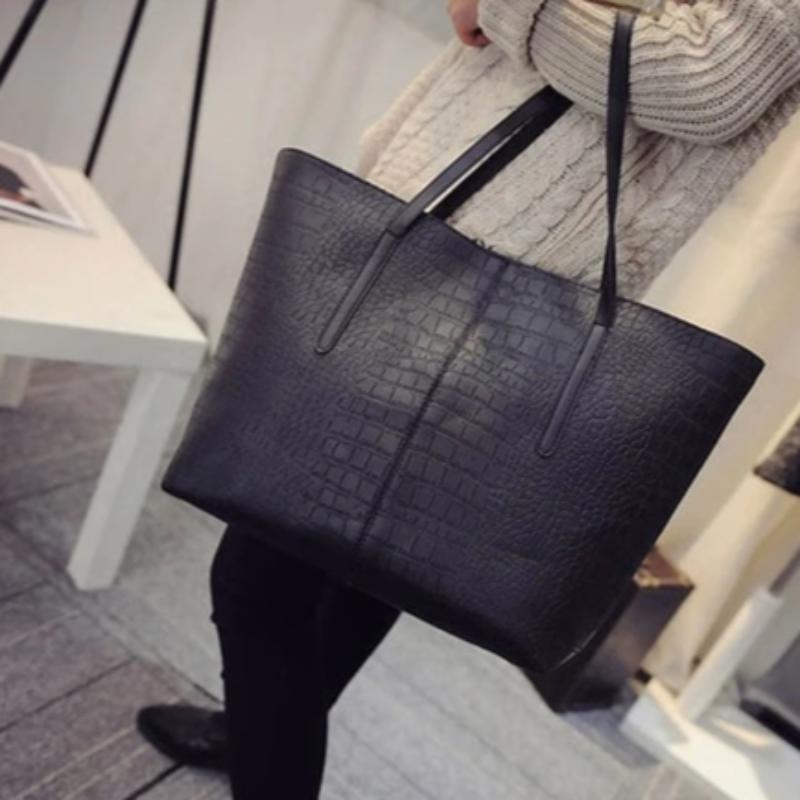 Women's Alligator Leather Shoulder Bag Tote
