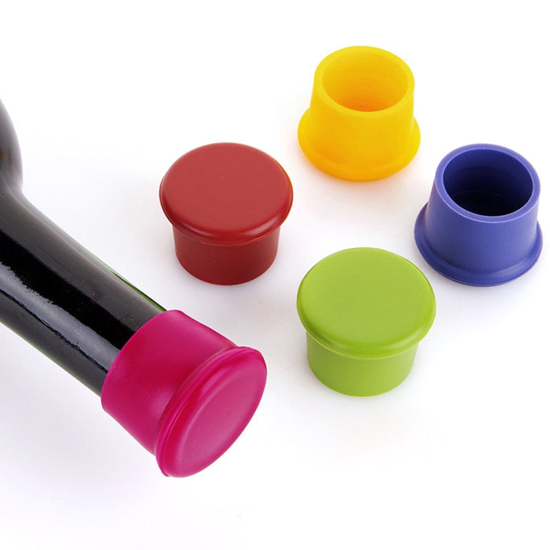 Silicone Wine Stoppers Food Grade Beverage Bottle Caps