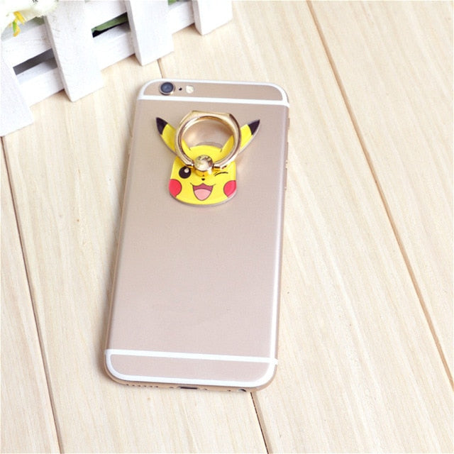 Universal Cartoon Finger Phone Ring Holder