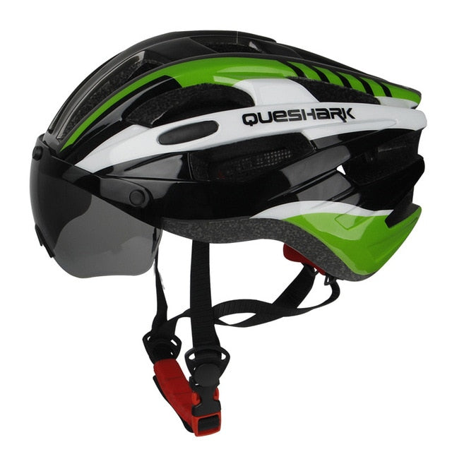 Expert Aerodynamic Breathable Cycling Helmet with Removable Wind Visor Lens