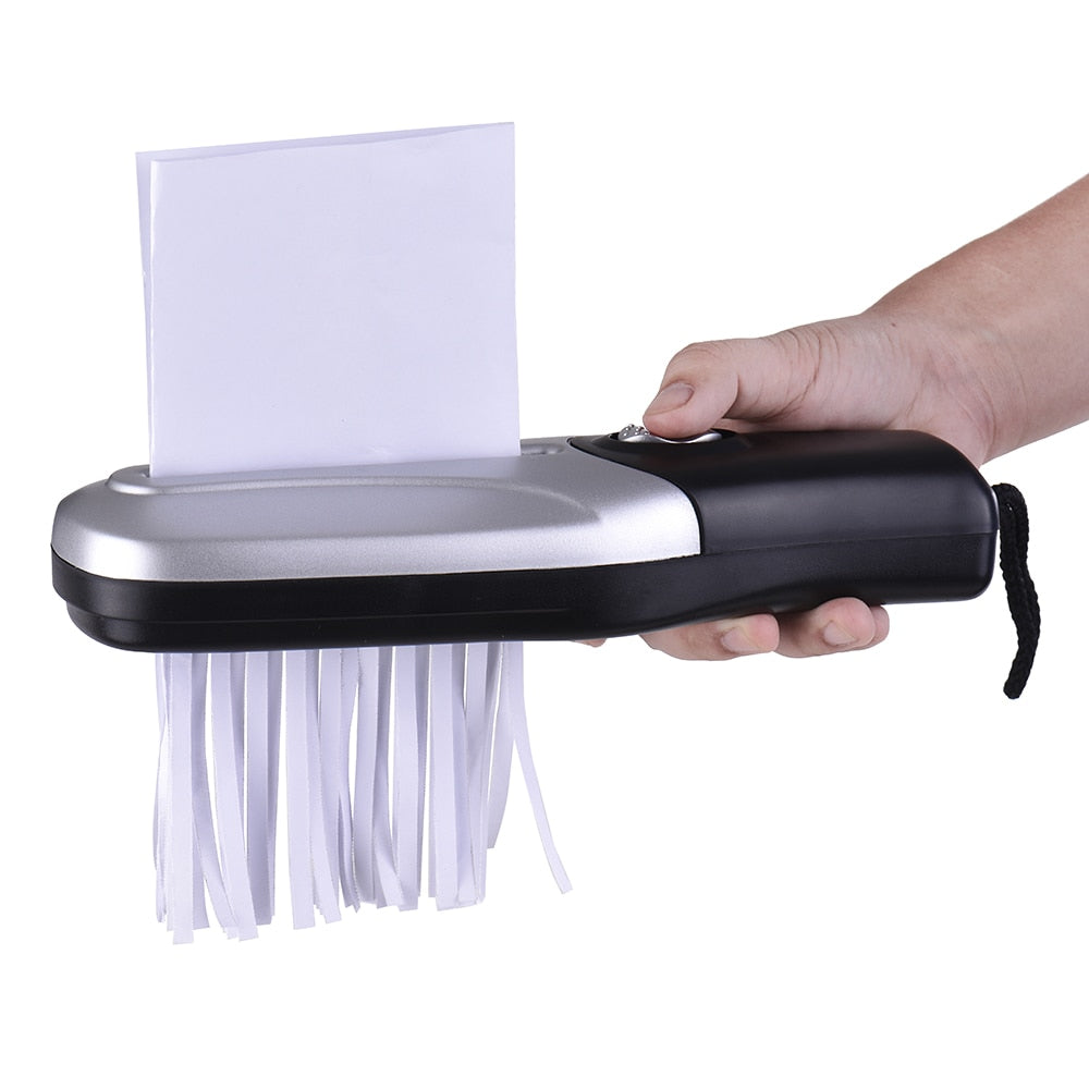 Portable Handheld Strip Cut Paper Shredder