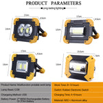 Heavy Duty Portable 100W LED USB Rechargeable Work Light