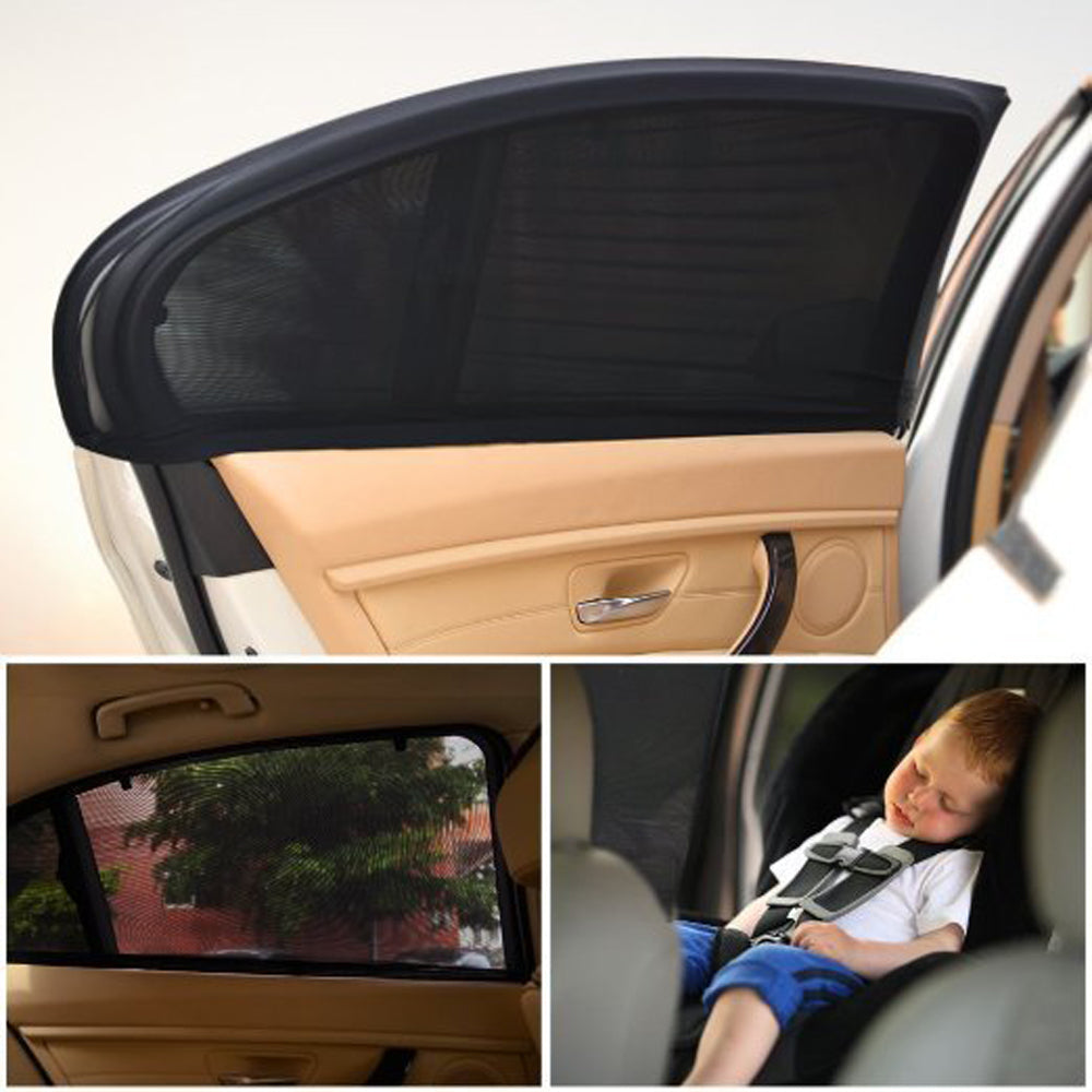 2 Pack: Pull-Over Car Window Mesh Sunshade Cover