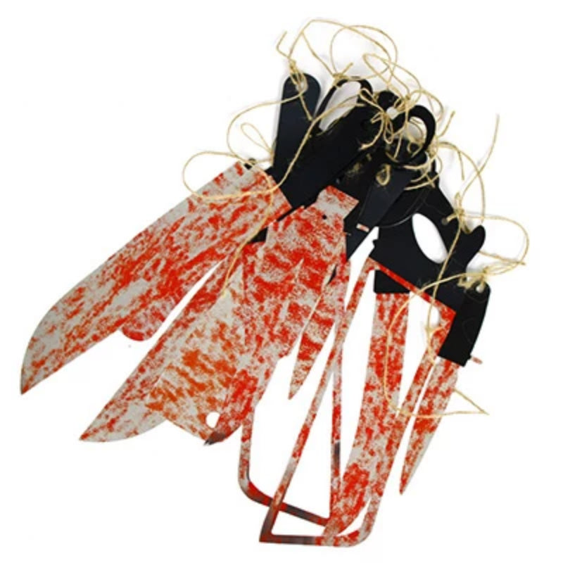 Halloween 12 pcs  Blood Knife Tools Garland Set