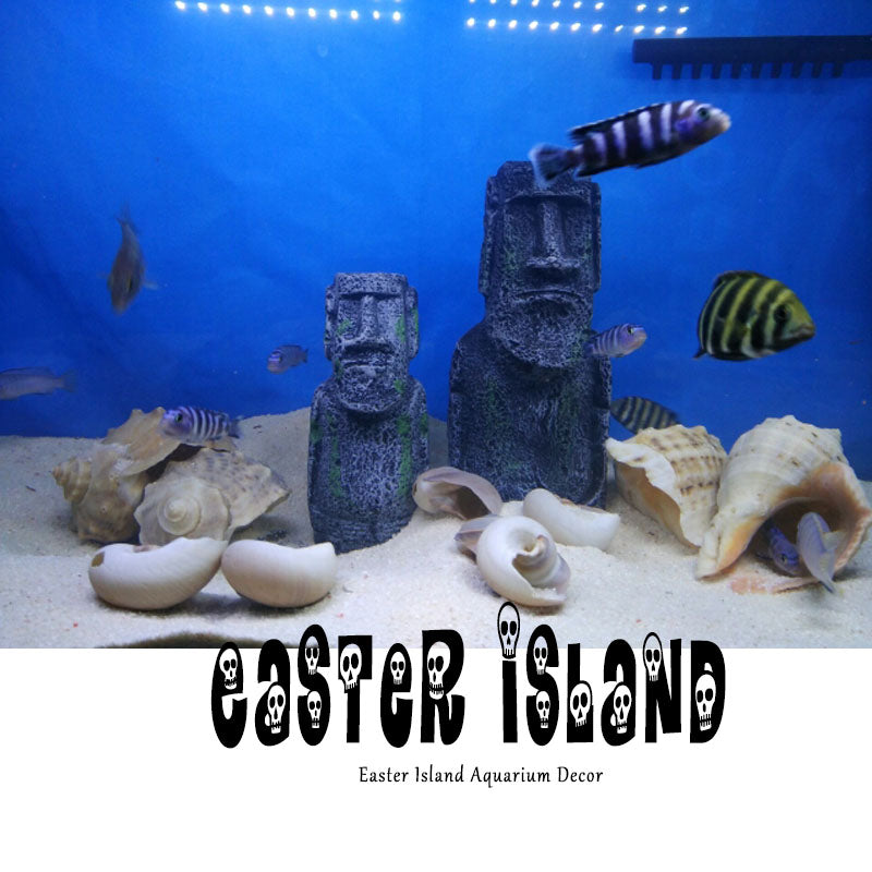 The Easter Island Statue Accessory Stone Pipe Decoration Product All For Fish...