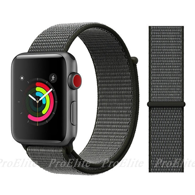 Band For Apple Watch Series 3/2/1 Nylon Soft Breathable Replacement Strap