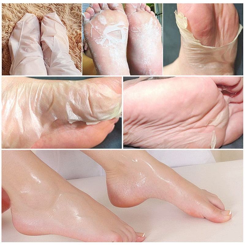2 Pairs Foot Peel Mask Exfoliating Pedicure
