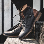 Men's Fashion Ankle Motorcycle Boots