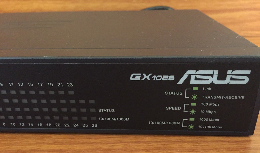 ASUS GX1026 24-Port 10/100Mbps & 2-Port 10/100/1000Mbps Fast Ethernet Switch - Out of Box