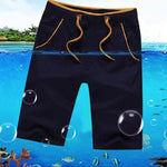 Men's Casual Cotton Beach Swim Shorts