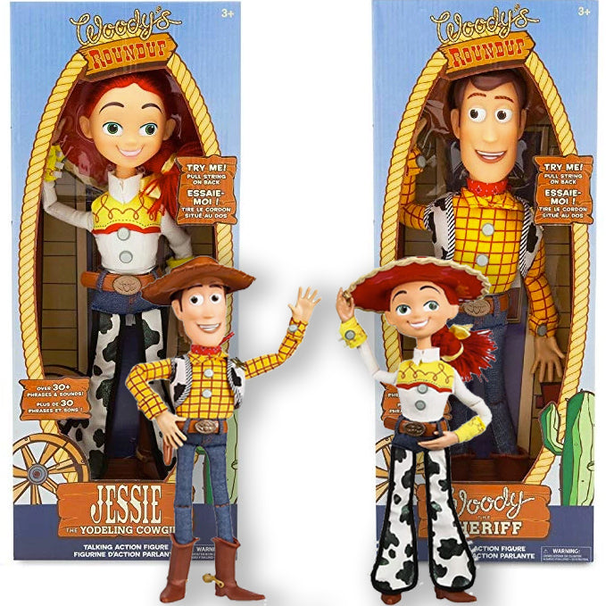 "Toy Story 4 Pull String Jessie/Woody 15"" Talking Toy"