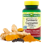 Turmeric Curcumin Non GMO Gluten Free Joint Pain Relief Antioxidant - 90 Capsules