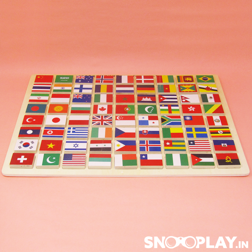 Wooden Flag Puzzle game