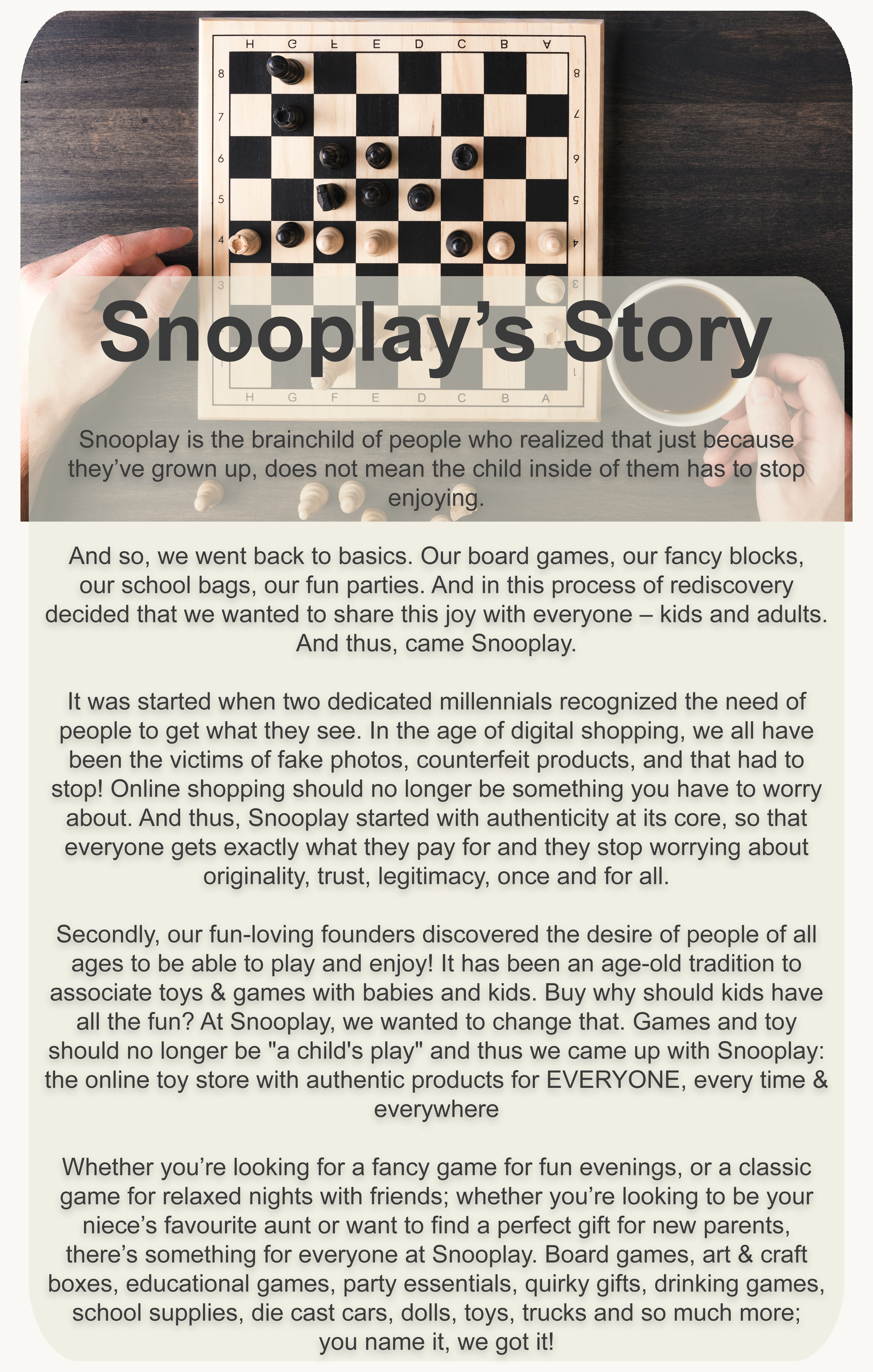 Snooplay's Story