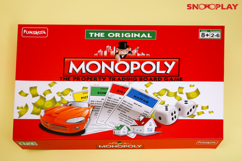 Monopoly Funskool Board Games Kids Games For Adults Buy Online India at Best Price Free Shipping