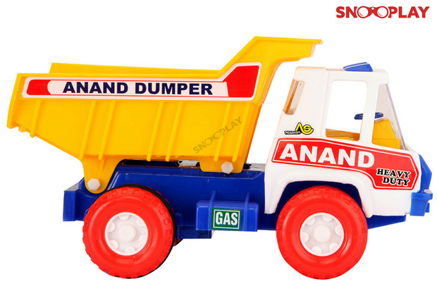 Buy friction powered Anand Dumper truck toy moving dumper-Snooplay.in for kids