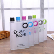 Portable Notebook Thin Water Bottle