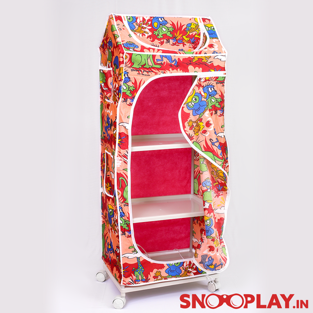 Kids Wardrobe with 4 Shelves (Plastic Structure) for kids buy online:- Snooplay.in