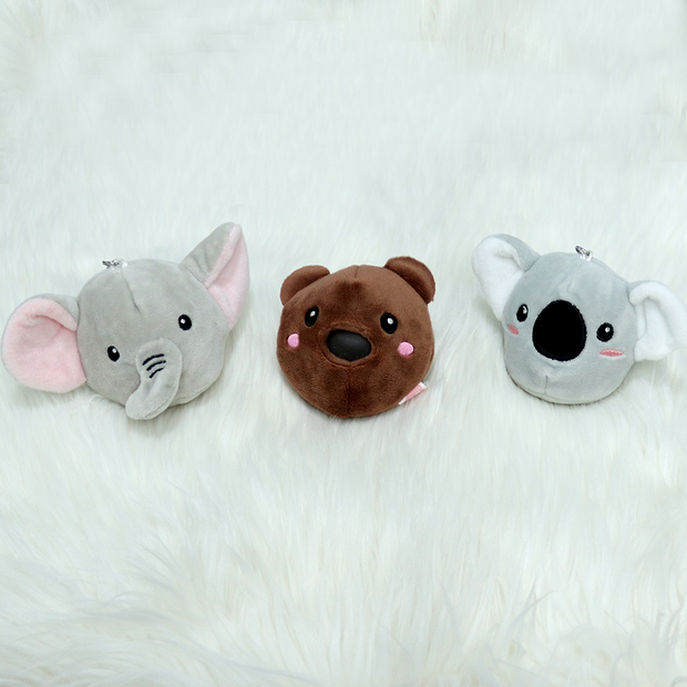 These cute softtoy keyrings are similar to pikmipops squeezy soft toys. Get these plush toy keychains from snooplay.in at best price.