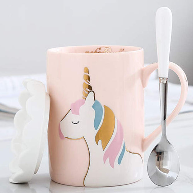 If you are looking for gift for a unicorn girl then look no more as this real unicorn mug will surprise her.
