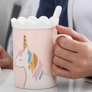 This cute unicorn cup makes the mornings brighter. A perfect gift for girls who  have a unicorn collection among their toy collection.This cute unicorn cup makes the mornings brighter.