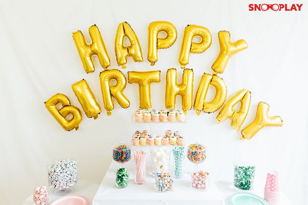 Happy Birthday Foil Balloons party decoration quirky gifts online india