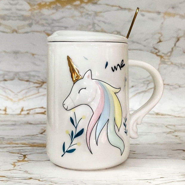 Unicorn 3D Mug with Lid & Spoon is the perfect gift for folks who love Unicorns. This real unicorn mug is also a good option for home decor.