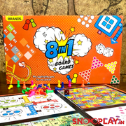 Buy 8 in 1 Family & Friends Board Game Set By Brands Online India at Low Price