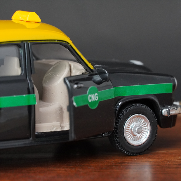 Ambassador Taxi Pull Back Toy Car