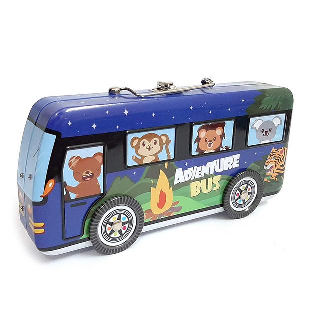 Buy Adventure Bus Shaped Pencil Box for school office stationary pouch online India Best Price